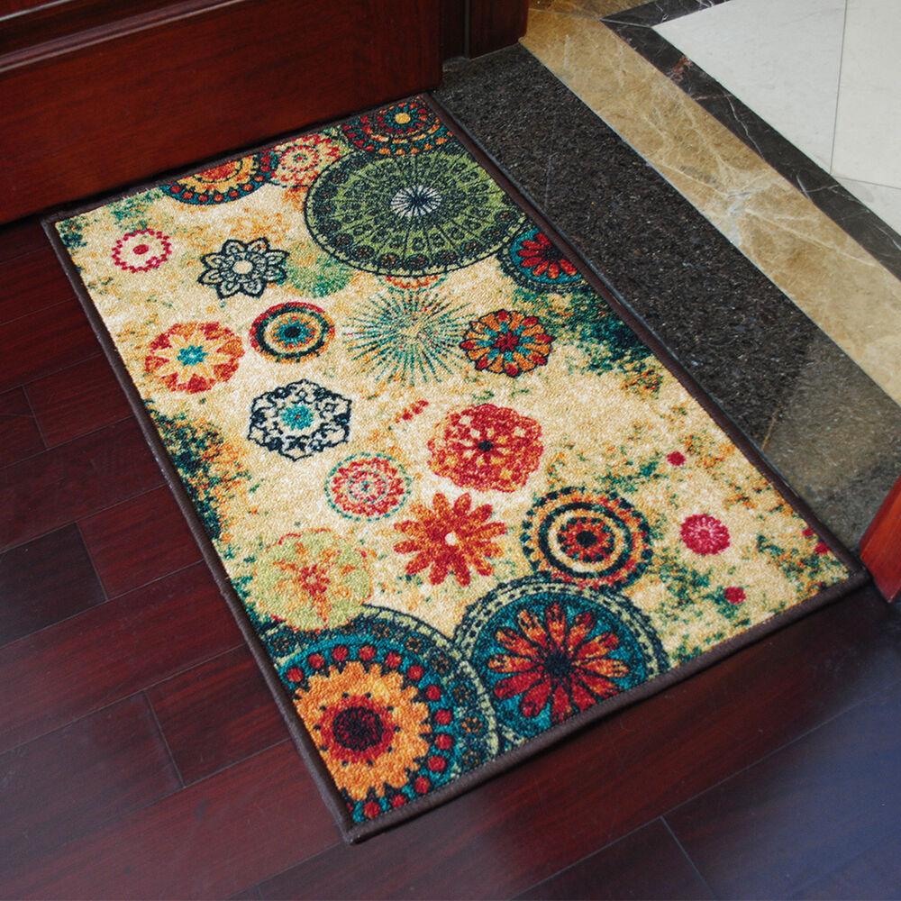 Retro Anti-Slip Door Mat Carpet Home Kitchen Bathroom