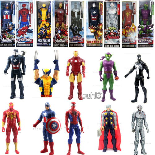 "12"" 30CM The Marvel Avengers Figure Spider-man Thor Captain Iron Man Kids Toys"