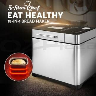 5 Star Chef Stainless Steel Bread Maker Automatic Yogurt Jam New