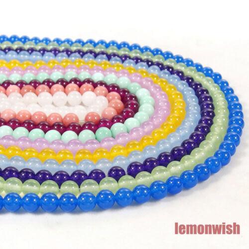Multi Color Jade Gemstone Spacer Beads 15.5