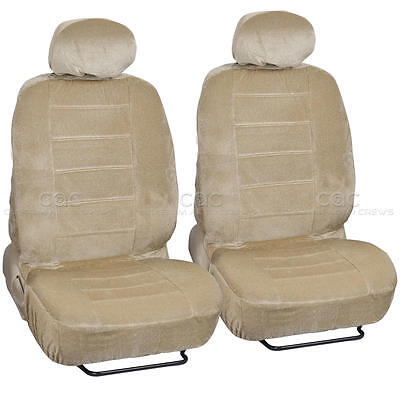 Dotted Regal Seat Covers Bucket Seating 4pc Premium Fabric Front Set