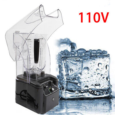2200w 110v Commercial Soundproof Cover Blender Mixer Juicer Smoothie Maker 2.2l