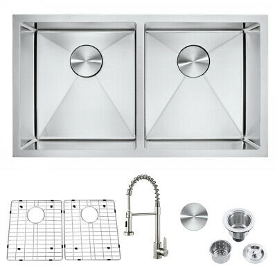 Stainless Steel Double Bowl Undermount 32