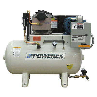Powerex STS 10-HP 120-Gallon Oil-Less Open Scroll Air Compressor (208/230V 3-...