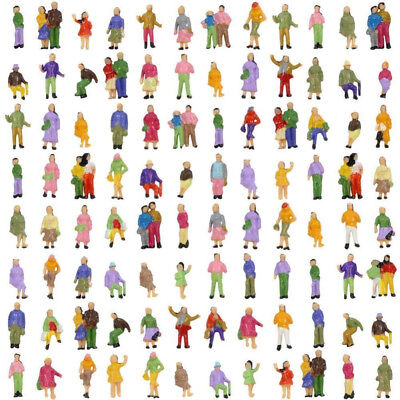 100Pcs 1:150 Scale Painted People Figures Model Set For Sand Table Train Layout