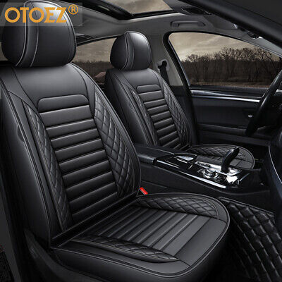 5D Car Seat Cover Full Set Breathable Leather Universal for Most Sedan SUV Truck