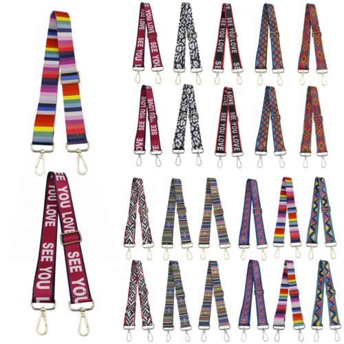 Adjustable Crossbody Bag Strap Replacement Vintage Striped F