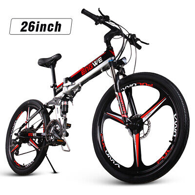 "26"" Electric Bike E-Bike Mountain Bike Folding Bicycle Cycling 400W 48V 21Speed"