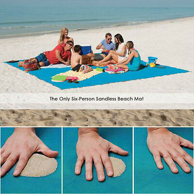 Sand Free Beach Magic Mat Outdoor Picnic Camping Large Mattress Waterproof Bags