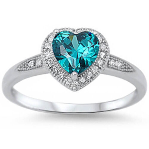 beautiful halo style cut promise blue topaz ring