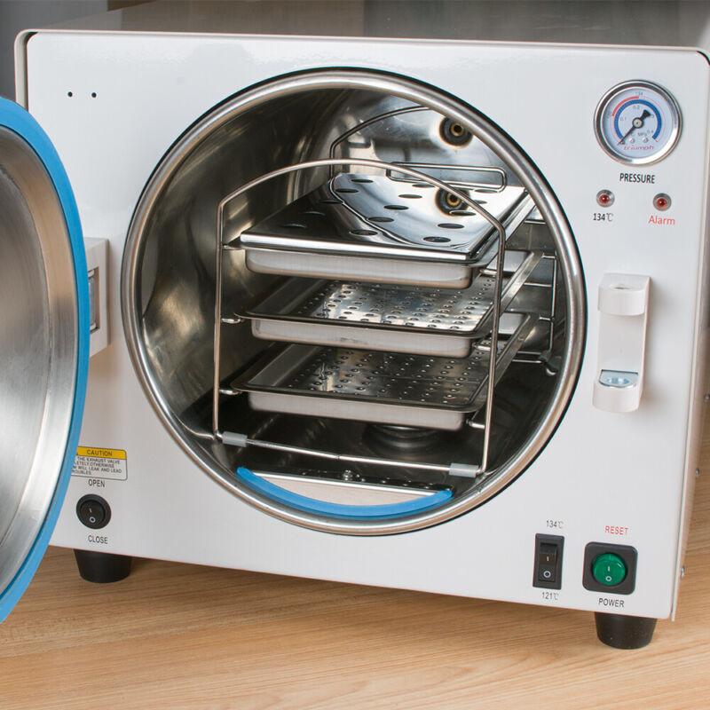 110V 900W Medical Dental Autoclave Steam Sterilizer Equipment Automatically S+