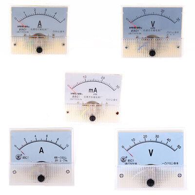 Dc 0-30v50v Voltmeter Gauge Class 2.5 Analog Panel Ammeter Current 0-5a10a Us