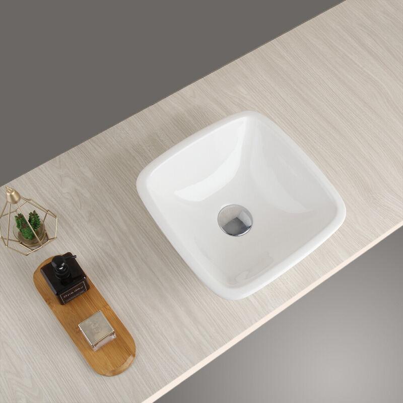 "Modern Ceramic Vessel Sink - Bathroom Vanity Bowl - Small 12.2 "" Round White"
