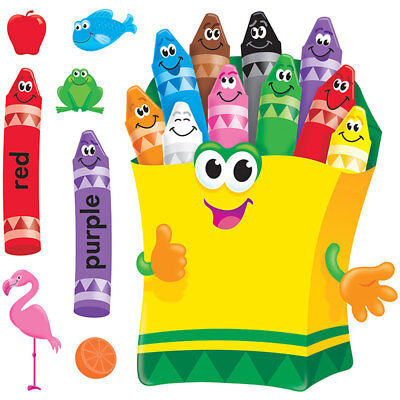 Colorful Crayons Bulletin Board Set Trend Enterprises Inc. T-8076