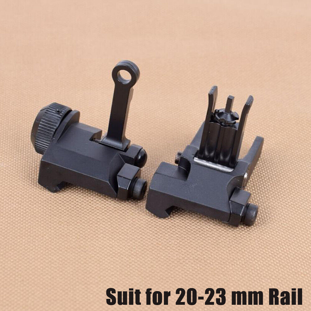 1 Pair Front & Rear Flip Up Tactical Sights for Knights Armament KAC 300/600 Hunting