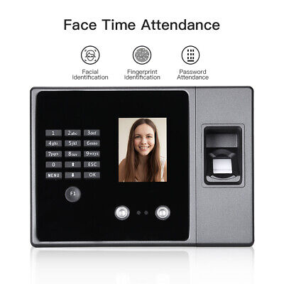Biometric Intelligent Face Time Attendance Recognition Time Clock Usbethernet