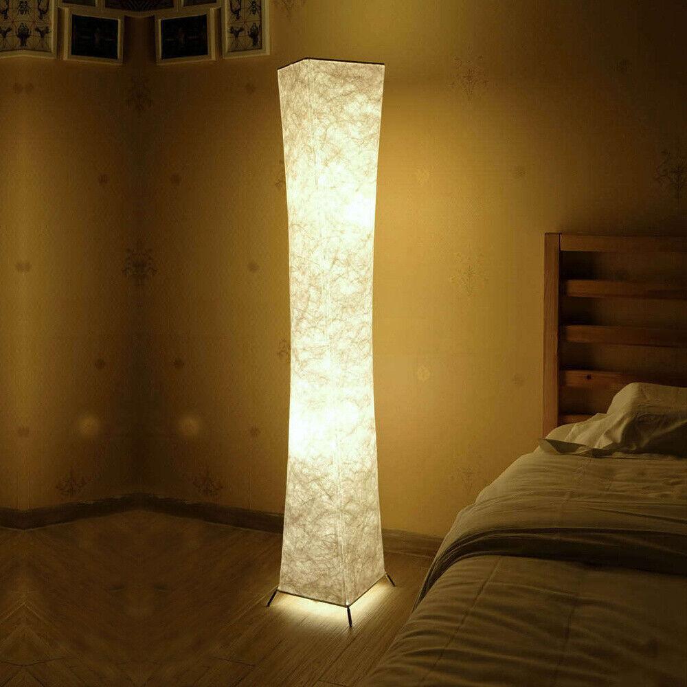 Modern Standing Floor Lamp Fabric Soft Lighting for Living R