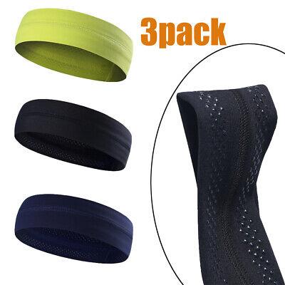 3 Pack Non-Slip Men Women Sports Headband Elastic Sweat band Yoga Gym Hair band 3 Pack Sport Slip