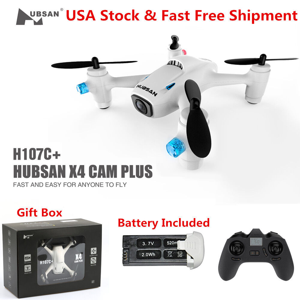 Hubsan X4 Plus H107C+ RC Quadcopter 2.4G 6Axis Headless 720P Mini Drone RTF US