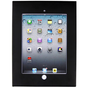iPad 2,3,4,Air Anti-theft Secure Black Enclosure Case Wall Mount Display Cabinet
