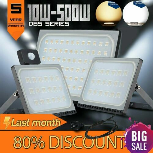 10W-500W LED Flood Light Outdoor Garden Lamp Yard Security L
