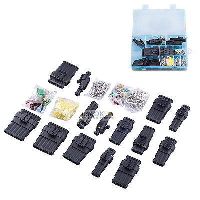 1 2 3 4 5 6 Pin Way Electrical Wire Connector Terminal Blade Fuse Kit Waterproof