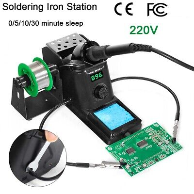 220v 60w Smd Rework Soldering Station Iron Kit Desoldering Repair Stand Esd Safe