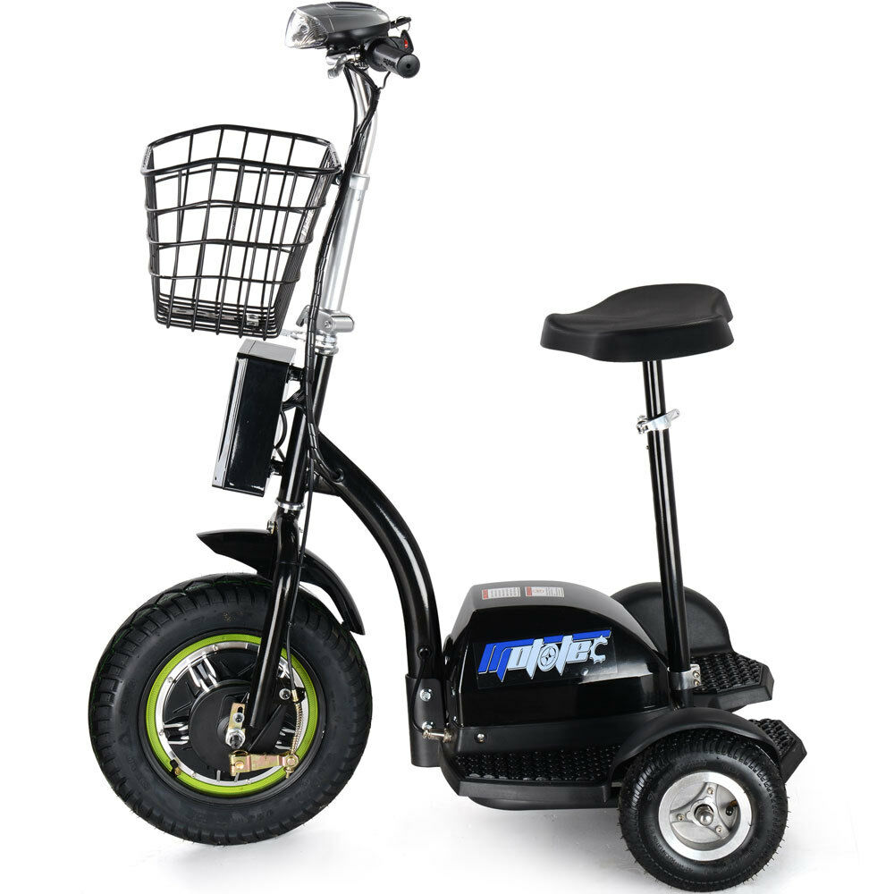 Electric Scooter EV Power 500 Watt 3 Wheeler Trike Mobility