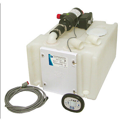 Jabsco Waste Management System with 10 Gal Holding Tank, 12V Pump, Auto Shut Off