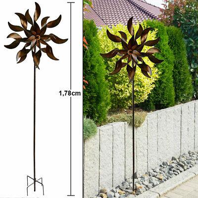 Pinwheel garden terraces plug decoration rust design ground spike wind chime