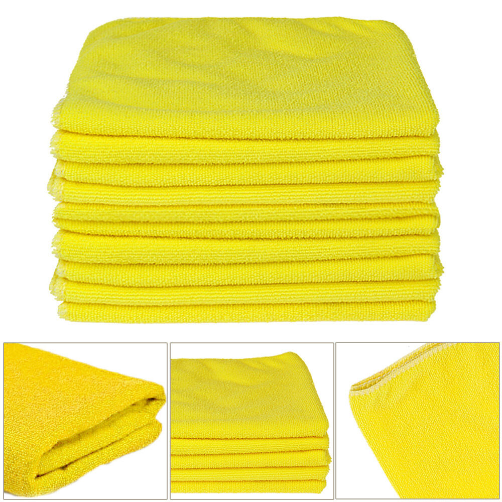 12 ultra soft kirkland signature micro fibre plush car cloths microfiber towels ebay. Black Bedroom Furniture Sets. Home Design Ideas