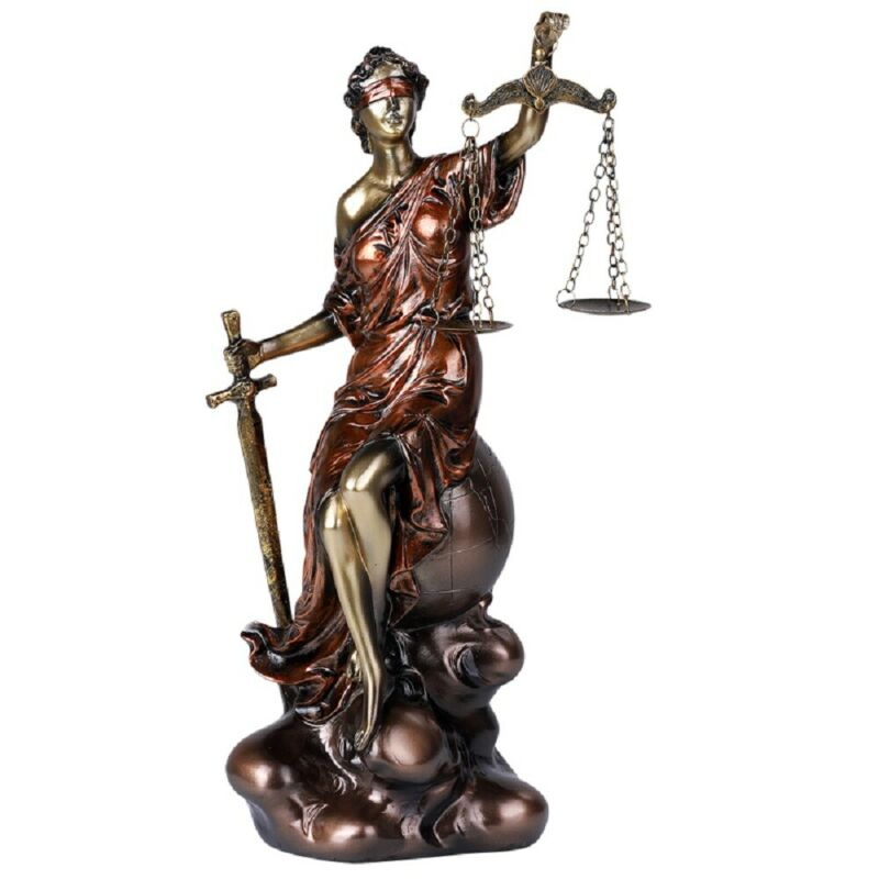 Lady Justice Statue Figurine New 13 inch