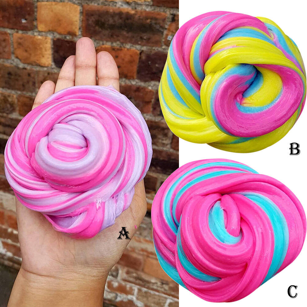 Fluffy Slime Floam ADHD Autism Adult Stress Relief Kids Toys Putty Durtend 60ml
