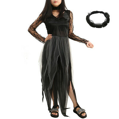 Ladies Zombie Bride Halloween Costume (Ladies Zombie Graveyard Corpse Bride Costume Womens Horror Halloween Fancy)
