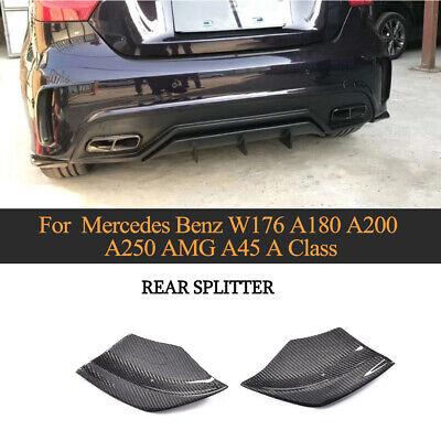 Carbon Flaps Splitter Heck Stoßstange Spoiler für Mercedes Benz W176 A45 13-18