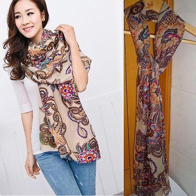 Voile Fashion Soft Chiffon Women New Silk Scarf Wrap Stole Shawl