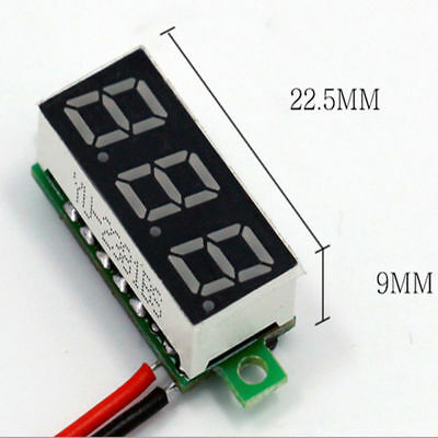 Dc 2.4-30v Mini Lcd Digital Voltmeter Ammeter Meter Gauge Voltage Amp Meter Dual