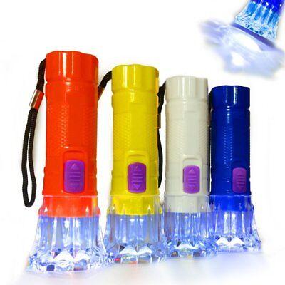 German Trendseller® - 8 x Kinder LED Taschenlampe | 10,5 cm | Nachtwanderung (Kinder-taschenlampe)
