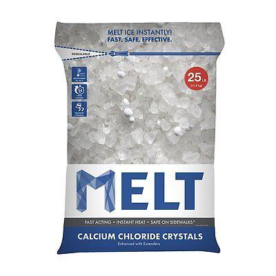 (Snow Joe 25lb Melt Calcium Chloride Crystals Ice Melter Resealable Bag, MELT25CC)