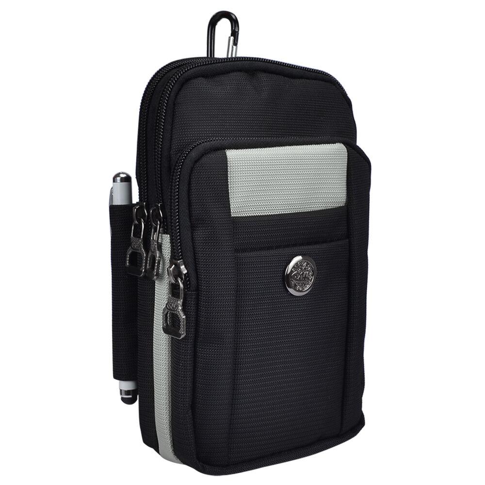 gray black nylon bag pouch case