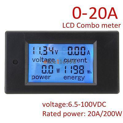DC 20A 100V LCD Digital Volt Voltage Watt Current Power Meter Ammeter Voltmeter