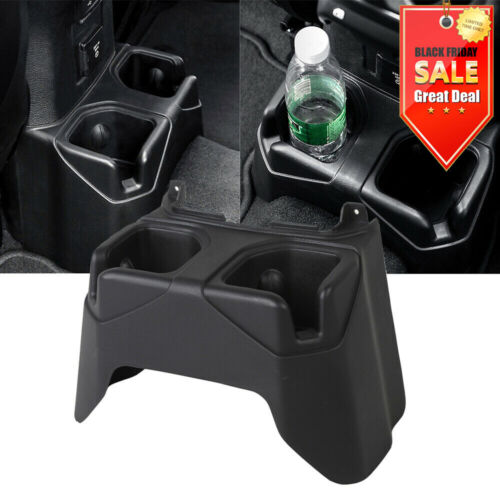 for Jeep Wrangler JL 2018+ Car Rear Seat Water Cup Holder Car Accessories Black