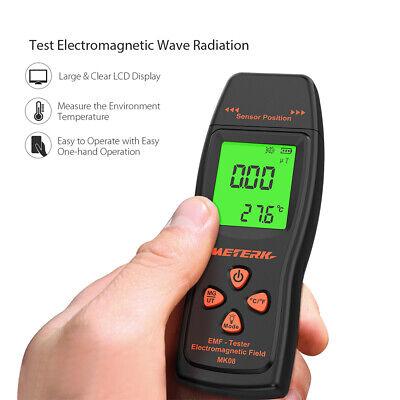 Meterk Digital Radiation Tester Emf Meter Electric Magnetic Field Detector Z9w5