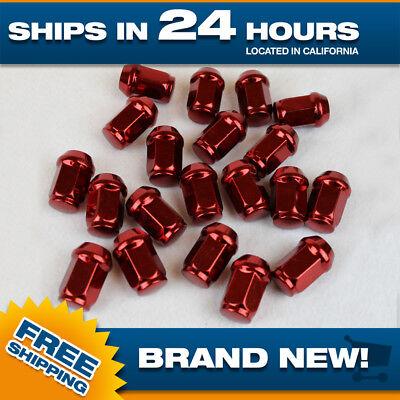 (New 1/2x20 lug nuts Red Acorn Bulge wheel nut Set of 20 lugnuts closed end)