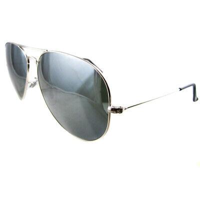 Ray-ban Sonnenbrille Aviator 3025 Silbergrau Spiegel 003/40 Groß 62mm