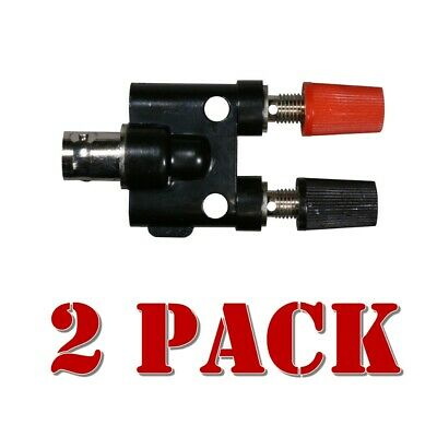 2x Rf Adapter Bnc Female To Banana Plug Female 604-001q2