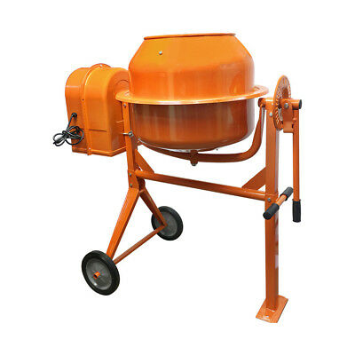 3-12 Cubic Ft. Portable Electric Steel Cement Mixer Machine 13hp Mixing Mortar
