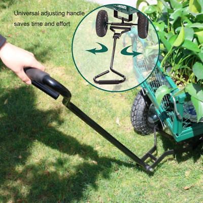Garden Carts Yard Dump Wagon Cart Lawn Utility Cart Outdoor Steel Heavy Duty Garden Hand Tools & Equipment