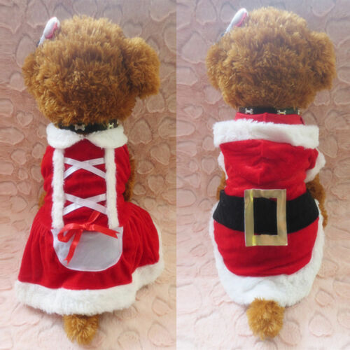 Christmas Pet Vest Dog Puppy Hoodie Sweater Jacket Cute Outfit Clothes Costume 1