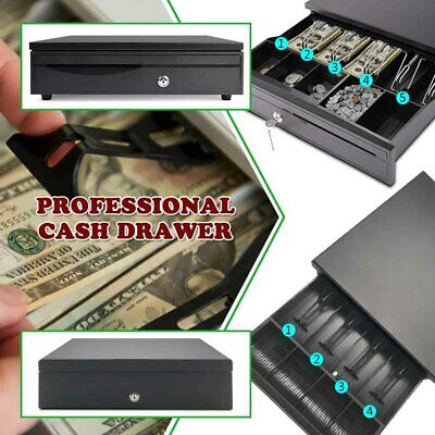45 Bill Coin Cash Drawer Money Box Till Removable Insert W Tray Pos Printers